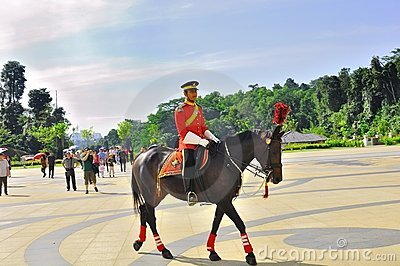 Royal guard on horse guarding the palace Editorial Stock Image