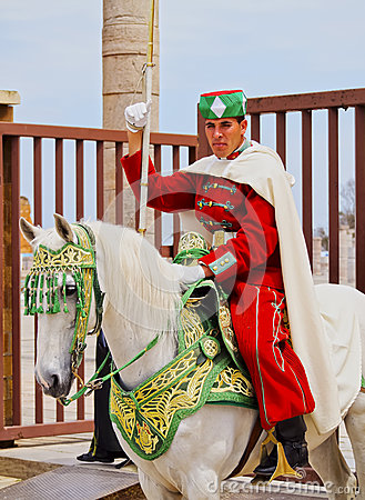 Free Royal Guard In Front Of The Hassan Tower And Mausoleum Of Mohammed V In Rabat Royalty Free Stock Photos - 33928608