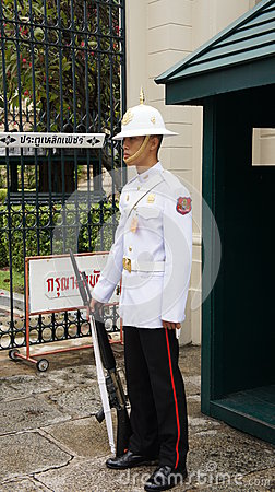 Royal Guard of Thailand. Editorial Photography