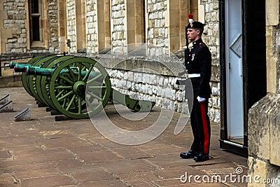 Royal Guard. Tower of London. Editorial Image