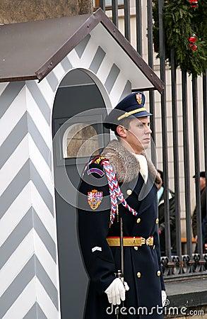 Royal guardian in Prague Editorial Image