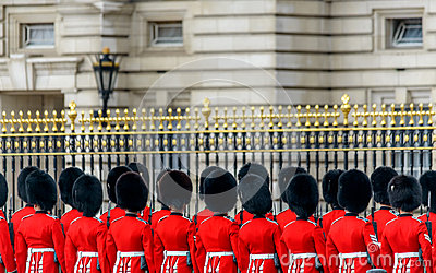 Royal guards at Buckingham Palace Editorial Image
