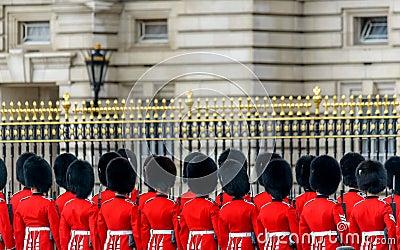 Royal guards at Buckingham Palace Editorial Image