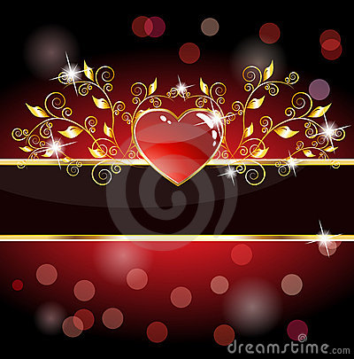 Royal heart card