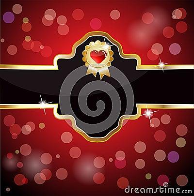 Royal heart emblem