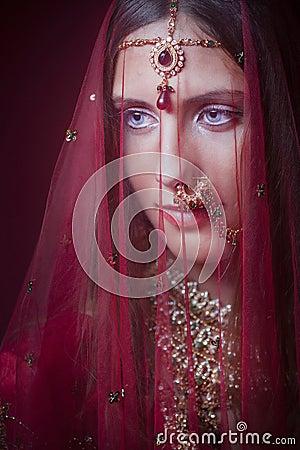 Free Royal Hindu Bride Stock Photography - 32407222