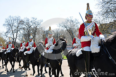Royal horse guards, England Editorial Stock Photo