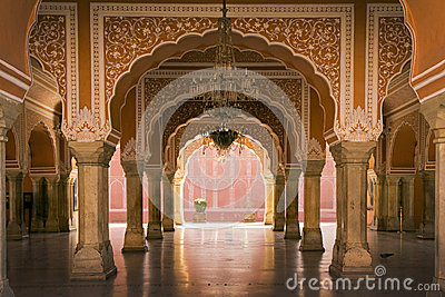 Royal interior in jaipur palace india stock photo image for Home architecture jaipur