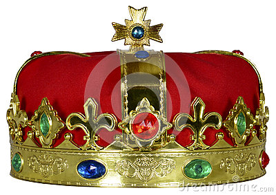 Royal King or Queen Crown with Jewels isolated