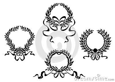 Royal laurel wreaths