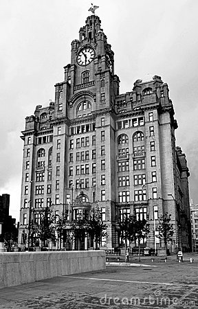 The Royal Liver building in Liverpool