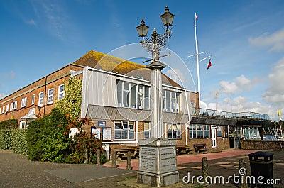 Royal Lymington Yacht Club, Hampshire Editorial Photo