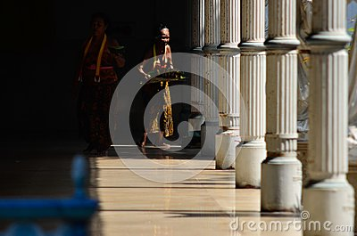 ROYAL MAIDEN SURAKARTA PALACE Editorial Stock Photo