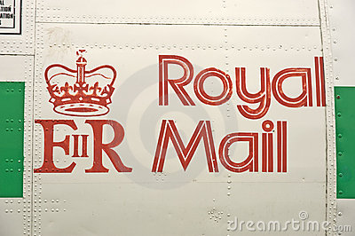 Royal Mail logo. Editorial Stock Photo