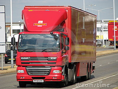Royal Mail Lorry Editorial Photography