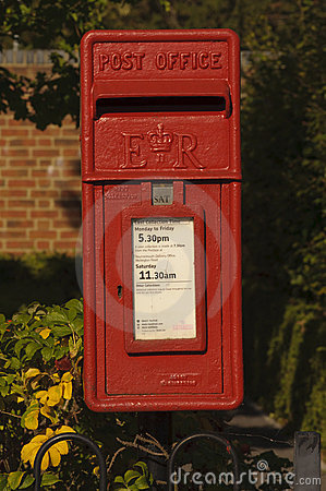 Royal mail post box Editorial Image