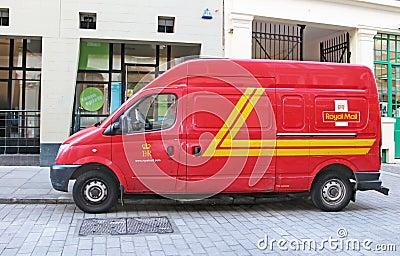 Royal Mail Van Editorial Photography