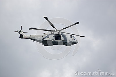 Royal Navy Merlin Helicopter, Portland Editorial Stock Image