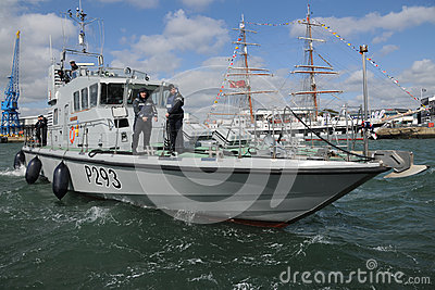 Royal Navy patrol boat Editorial Stock Photo