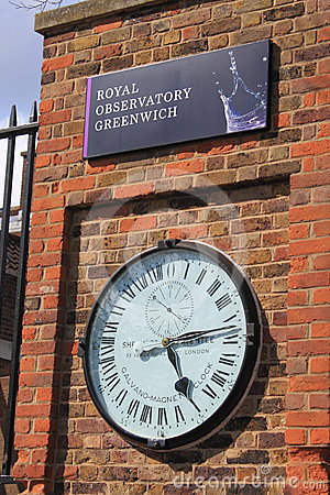 Royal Observatory Greenwich Time Editorial Stock Photo