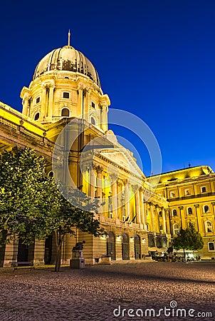 Royal Palace of Buda in night, Budapest