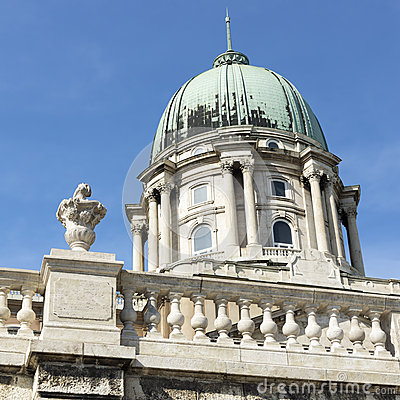 Royal palace (cupola) in budapest