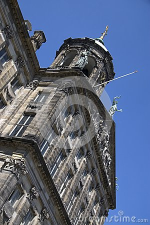 The Royal Palace on Dam Square in Amsterdam