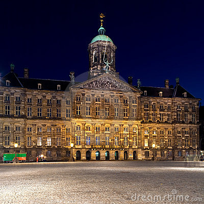 Royal Palace, Dam square, Amsterdam, Netherlands