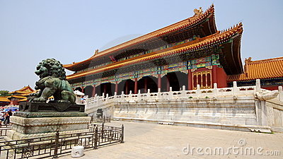 Royal Palace in Forbidden City Editorial Stock Image