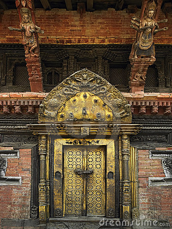 Royal Palace - grand dos de Durbar - Katmandou