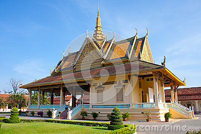 Royal palace house in Phnom Penh