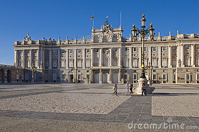 Royal palace in Madrid Editorial Photo