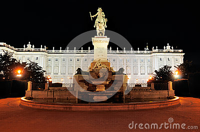 Royal Palace by Night, Madrid, Spain