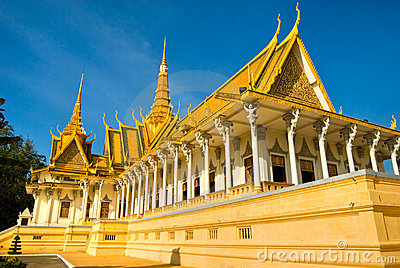 Royal palace in Pnom Penh, Cambodia.