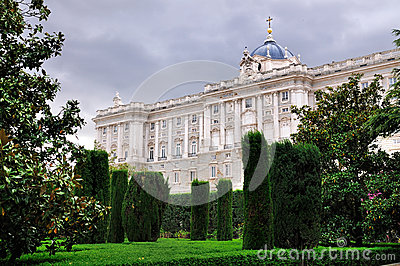 Royal Palace seen from the Gardens, Madrid