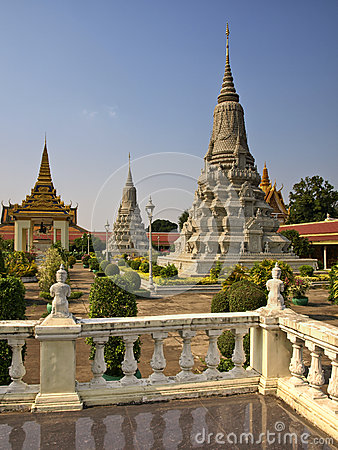 Royal Palace, Stupa, Cambogia