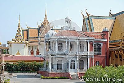Royal Palace,Villa of Napoleon,Phnom Penh,Cambodia