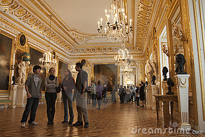 Royal palace in Warsaw inside Editorial Stock Photo