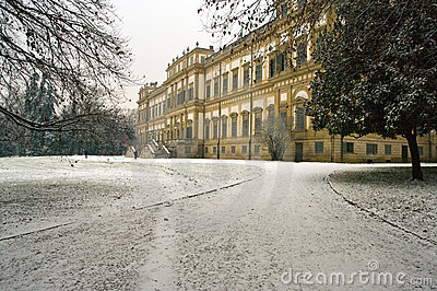 Royal palace in winter