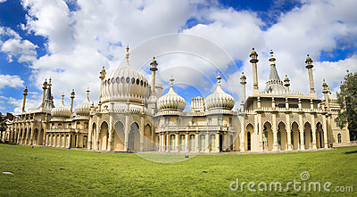 Royal pavillion panorama brighton england