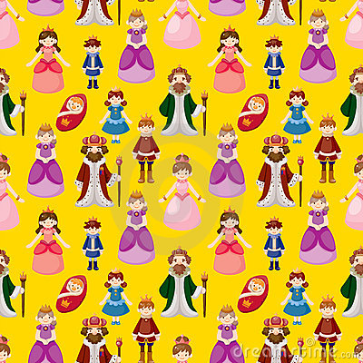 Royal people seamless pattern