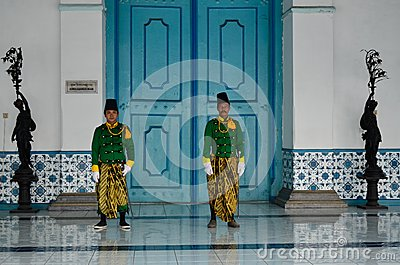 ROYAL SOLDIER SURAKARTA PALACE Editorial Stock Photo