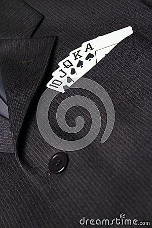 Royal straight flush in suit pocket
