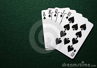 Royal straight in spades