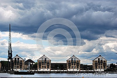 Royal Victoria Dock Houses Editorial Photo