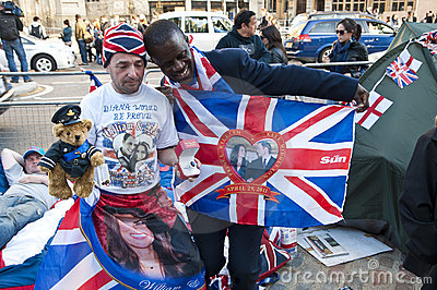Royal Wedding 2011 Campers Editorial Photo