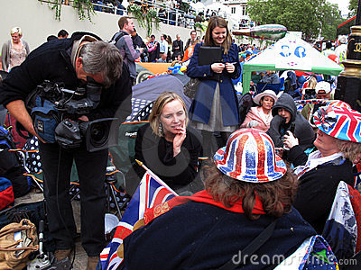 Royal wedding fans interview Editorial Photography