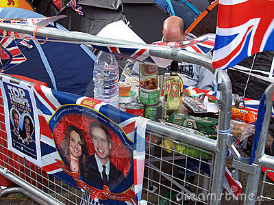 Royal Wedding picnic Editorial Image