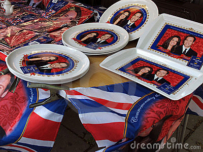 Royal Wedding souvenirs Editorial Image