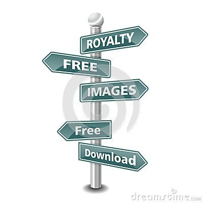 ROYALTY FREE IMAGES  icon as signpost - NEW TOP TREND